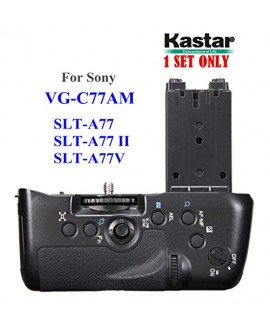 Kastar Professional Vertical Battery Grip (Replacement for VG-C77AM) for Sony SLT-A77 SLT-A77V SLT-A77 II Digital SLR Cameras