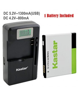 Kastar FL-53HN Battery (1-Pack) and intelligent mini travel Charger ( with high speed portable USB charge function) for LG Thrill 4G P925 / LG Optimus 3D P920 / LG G2x P999 P990 / LG Optimus 2x P990 / LG DoublePlay C729, Fit FL-53HN / FL53HN --Supper Fast