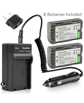 Kastar Battery (X2) & AC Travel Charger for Panasonic CGR-D08 D08S CGR-D14 CGR-D16 D16S CGR-D28 D28S, CGR-D120 CGR-D210 CGR-D220 CGR-D320 & AG Series AJ-PCS060G DZ-MX5000 NV Series PV Series VDR-M20