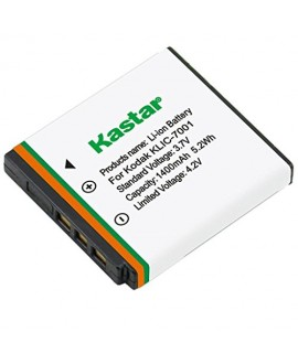 Kastar Battery (1-Pack) for Kodak KLIC-7001 and Kodak EasyShare M320, M340, M341, M753 Zoom, M763, M853 Zoom, M863, M893 IS, M1063, M1073 IS, V550, V570, V610, V705, V750 Cameras