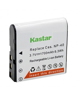 Kastar Battery (1-Pack) for Casio NP-40 NP-40DBA NP-40DCA BC-31L & Casio Exilim EX-Z400 EX-FC100 EX-FC150 EX-FC160S Pro EX-P505 EX-P600 EX-P700 Zoom EX-Z100 EX-Z1000 EX-Z1050 EX-Z700 EX-Z750 EX-Z850