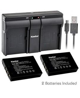 Kastar 2x Battery + USB Dual Charger for Kodak KLIC-5001 and Easyshare P712 P850 P880 Z730 Z760 Z7590 DX6490 DX7440 DX7590 DX7630 Sanyo DB-L50 DMX-WH1 HD1010 FH11 HD2000 VPC-WH1 HD2000 HD1010 HD1000