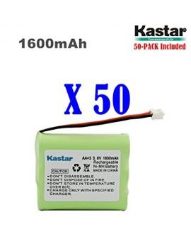 Kastar 50-PACK AAX3 3.6V 1600mAh EH Ni-MH Rechargeable Battery for Vtech, Motorola, Radio Shack, Sanyo Series Cordless Phone (Check your Cordless Phone Model down)