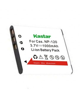 Kastar Battery for Casio NP-120, NP120, CNP120 and Casio Exilim EX-S200 EX-S300 EX-Z31 EX-Z680 EX-Z690 EX-ZS10 EX-ZS12 EX-ZS15 EX-ZS20 EX-ZS26 EX-ZS30 Digital Camera