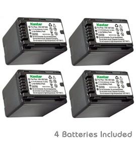 Kastar Battery (4-Pack) for Panasonic VW-VBT380 and Pansonic HC-V110 V130 V160 V180 HC-V201 V210 V250 HC-V380 HC-V510 V520 V550 HC-V710 V720 V750 V770 HC-VX870 HC-VX981 HC-W580 W850 HC-WXF991 Cameras