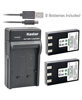 Kastar Battery (X2) & Slim USB Charger for Canon NB-1L NB-1LH CB-2LSE and Canon IXY Digital 200 200a 300 300a 320 400 430 450 500 S200 S230 S330 PowerShot S200 S230 S300 S330 S400 S410 S500 Camera