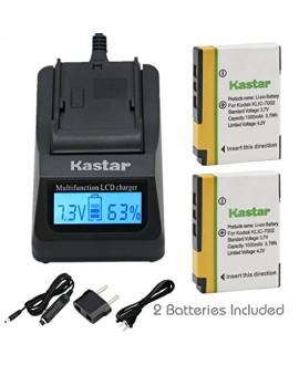 Kastar Fast Charger + KLIC-7002 Battery (2-Pack) for Kodak EasyShare V530, EasyShare V530 Zoom, EasyShare V603, EasyShare V603 Zoom Cameras