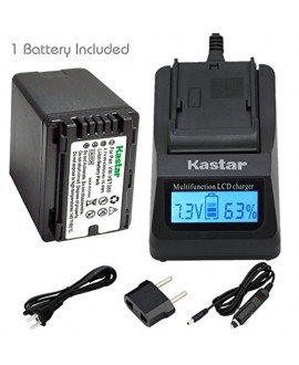 Kastar Fast Charger and Battery (1-Pack) for Panasonic VW-VBT380 and HC-V110 V130 V160 V180 HC-V201 V210 V250 HC-V380 HC-V510 V520 V550 HC-V710 V720 V750 V770 HC-VX870 HC-VX981 HC-W580 W850 HC-WXF991