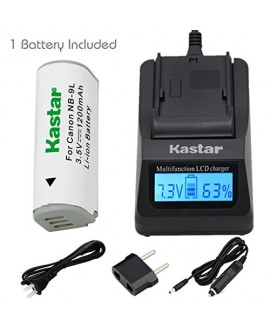 Kastar Ultra Fast Charger(3X faster) Kit and Battery (1-Pack) for Canon NB-9L and Canon PowerShot N, N2, SD4500, SD4500 IS, ELPH 510 HS, ELPH 520 HS, ELPH 530 HS Cameras