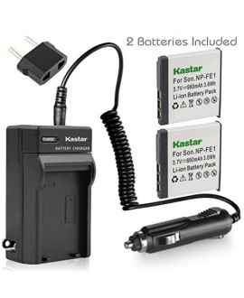 Kastar Battery (X2) & AC Travel Charger for Sony NP-FE1 and Sony Cyber-shot DSC-T7 DSC-T7/B DSC-T7/S DSC-P2 DSC-P3 DSC-P5 DSC-P9 DSC-P7 Digital Camera