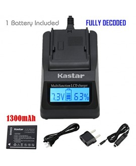 Kastar Ultra Fast Charger(3X faster) Kit and Battery (1-Pack) for Panasonic DMW-BCH7, DMW-BCH7PP, DMW-BCH7E, DE-A76 work with Panasonic Lumix DMC-FP1, DMC-FP2, DMC-FP3, DMC-FT10, DMC-TS10 Cameras [Over 3x faster than a normal charger with portable USB cha