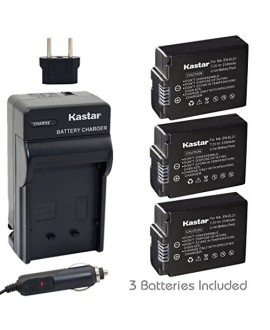 Kastar Battery (3-Pack) and Charger Kit for Nikon EN-EL21, MH-28 work with Nikon 1 V2 Camera