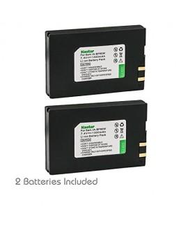 Kastar Battery 2x for Samsung IA-BP80W IA-BP80WA Samsung VP-D381 Samsung VP-DX100 VP-DX100i Samsung VP-DX105i Samsung SC-D381 Samsung SC-D382 Samsung SC-D383 SC-D385 Samsung SC-DX103 Samsung SC-DX205