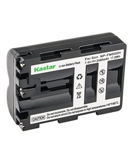Kastar Battery (1-Pack) for Sony NP-FM500H and DSLR-A100, A200, A300, A350, A450, A500, A550, A560, A580, A700, A850, A900, Alpha SLT A57, A58, A65, A65V, A77, A77V, A77 II, A77M2, A99, A99V, CLM-V55