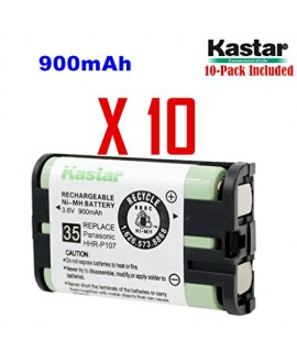 Kastar HHR-P107 Battery (10-Pack), Type 35, NI-MH Rechargeable Cordless Telephone Battery 3.6V 900mAh, Replacement for Panasonic HHR-P107, HHR-P107A, HHR-P107A/1B, BB-GT1500, BB-GT1540, BB-GT1540B, BB-GTA150, BB-GTA150B, BB-GT1500B, KX-TG6021M, KX-TG6022B