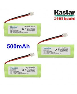 Kastar 3-PACK 4.8V 500mAh Ni-MH Rechargeable Battery Replacement for Dogtra BP12RT Dog Training Collar Receiver and 1900 NCP, 1902 NCP, 300M, YS500, SureStim H Plus, 1900 NCP, 302M and more Models