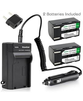 Kastar SB-LSM160 Battery (2-Pack) + Charger for Samsung SB-LSM80, SB-LSM160, SB-LSM320 and SC-D351 VP-D351 VP-D352 VP-D352i VP-D353 VP-D353i VP-D354 VP-D354i VP-D647 VP-D651 VP-D653 VP-DC161 VP-DC163