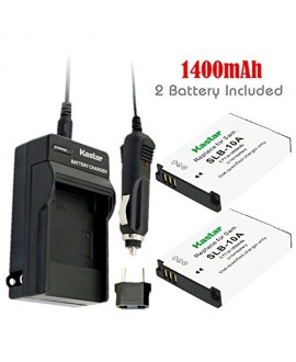 Kastar Battery (X2) & Travel Charger Kit for Samsung SLB-10A, EA-SLB10A and Samsung EX2F HZ15W SL202 SL420 SL620 SL820 WB150F WB250 WB250F WB350F WB750 W800 WB800F WB850F WB1100F Digital Camera + More