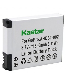 Kastar AHDBT-002 Battery (1-Pack) for GoPro AHDBT-001, AHDBT-002 work with GoPro HD HERO1, HERO2, GoPro Original HD HERO Cameras