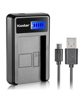 Kastar LCD Slim USB Charger for Panasonic CGA-DU07 and NV-GS40 GS44 GS47 GS50 GS55 GS57 GS58, PV-GS150 GS180 GS200 GS300 GS320 GS400 GS500, SDR-H250 H280, VDR-D258 D300 D308 D310 D400 M74 M75 M95 M250
