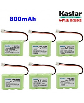 Kastar 6-PACK 2/3AA 3.6V 800mAh EH Ni-MH Rechargeable Battery for AT&T 2422 80-5074-00-00 Lucent 2422 Vtech ia5870 ia5882 Sanik 3SN-2/3AA30-S-J1 Cordless Phone (Check your Cordless Phone Model down)
