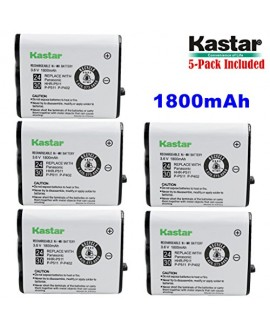 Kastar HHR-P511 / HHR-P402 Battery (5-Pack), Type 24 / 30 NI-MH Rechargeable Cordless Telephone Battery 3.6V 1800mAh, Replacement for Panasonic HHR-P511, HHR-P402, P-P511, P-P511A, HHR-P402A