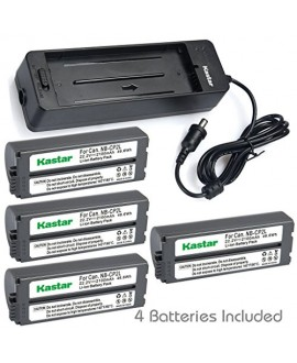 Kastar Battery NB-CP2L (X4) and Charger BG-CP200 for Canon NB-CP1L CP2L and Compact Photo Printer SELPHY CP100 CP200 CP220 CP300 CP330 CP400 CP510 CP600 CP710 CP730 CP770 CP780 CP790 CP800 CP900 CP910