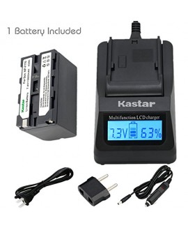 Kastar Ultra Fast Charger Kit and Battery (1-Pack) for Sony NP-F770 NP-F750 and CCD-RV100 CCD-RV200 CCD-SC9 CCD-TR1 CCD-TR940 CCD-TR917 Camera CN-126 CN-160 CN-216 CN-304 YN 300 VL600 LED Video Light