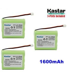 Kastar 3-PACK AAX3 3.6V 1600mAh EH Ni-MH Rechargeable Battery for Vtech, Motorola, Radio Shack, Sanyo Series Cordless Phone (Check your Cordless Phone Model down)