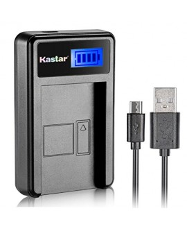 Kastar LCD Slim USB Charger for Sony NP-BK1, NPBK1 and Cybershot DSC-W180, DSC-W190, DSC-W370, DSC-S750, DSC-S780, DSC-S950, DSC-S980, Webbie MHS-CM1 HD, MHS-PM1, MHS-PM5, Bloggie MHS-CM5 +more camera