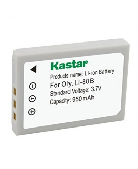 Kastar Battery (1-Pack) for Olympus Li-80B and Konica Minolta NP-900 work with Olympus T-100,t-110,x-36 and Konica Minolta DiMAGE E40, E50, KYOCERA EZ4033 etc. Cameras