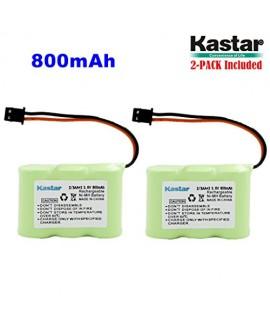 Kastar 2-P 2/3AA 3.6V 800mAh MSM Ni-MH Rechargeable Battery for Panasonic KX-TCM410 KX-A36 P-P301 Sony SPP-72/AQ25/AQ600 1-528-376-31 BP-T16/T185 Toshiba FF-675 FT-6203 TRB-5000 Uniden XC-315/330/600