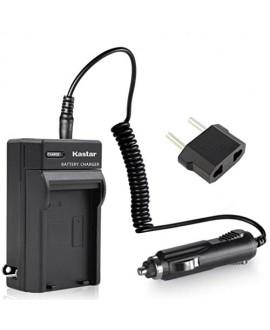 Kastar Travel Charger Kit for Samsung SB-LSM80 LSM160 LSM320 and SC-D351 VP-D351 VP-D351i VP-D352 VP-D352i VP-D353 VP-D353i VP-D354 VP-D354i VP-D647 VP-D651 VP-D653 VP-DC161 VP-DC161i DC163 DC163i