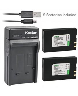 Kastar Battery (X2) & Slim USB Charger for Samsung IA-BP80W IA-BP80WA Samsung VP-D381 Samsung VP-DX100 VP-DX100i VP-DX105i Samsung SC-D381 SC-D382 SC-D383 SC-D385 Samsung SC-DX103 Samsung SC-DX205