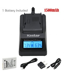 Kastar Ultra Fast Charger(3X faster) Kit and Battery (1-Pack) for Nikon EN-EL8, Nikon MH-62 work with Nikon Coolpix P1, Coolpix P2, Coolpix S1, Coolpix S2, Coolpix S3, Coolpix S5, Coolpix S6, Coolpix S7, Coolpix S7c, Coolpix S8, Coolpix S9, Coolpix S50, C