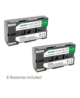 Kastar Battery 2x for Samsung SB-L160 and Samsung SC-L520 530 550 600 610 630 650 700 710 750 770 810 VP-W75D VM-B5700 VM-C170 VM-C300 VM-C3700 VP-W80 VP-W80U VP-W87 VP-W87D VP-W90 VP-W97