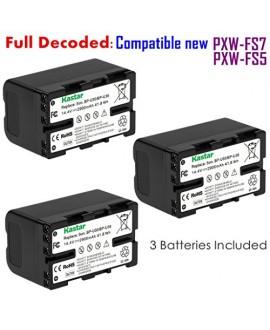 Kastar BP-U30 Battery (3-PACK) for Sony BP-U90 BP-U60 BP-U30 and Sony PXW-FS7/FS5/X180 PMW-100/150/150P/160 PMW-200/300 PMW-EX1/EX1R PMW-EX3/EX3R PMW-EX160 PMW-EX260 PMW-EX280 PMW-F3 PMW-F3K PMW-F3L