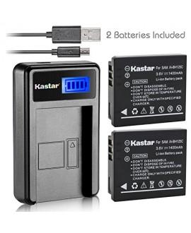 Kastar Battery (X2) & LCD USB Charger for Samsung IA-BH125C Ricoh DB-65 Sigma BP-41 Pentax D-Li106 Samsung HMX-R10 Ricoh GR GR-II GR-III GR-IV G700 GR Digital Sigma DP3M DP2 Merrill Pentax MX-1 X90