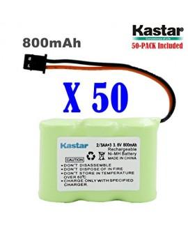 Kastar 50-P 2/3AA 3.6V 800mAh MSM Ni-MH Rechargeable Battery for Panasonic KX-TCM410 KX-A36 P-P301 Sony SPP-72/AQ25/AQ600 1-528-376-31 BP-T16/T185 Toshiba FF-675 FT-6203 TRB-5000 Uniden XC-315/330/600