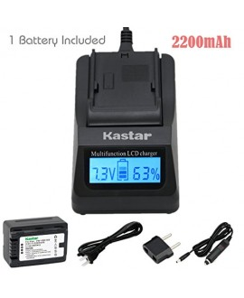 Kastar Ultra Fast Charger(3X faster) Kit and Battery (1-Pack) for Panasonic VW-VBK180 work with Panasonic HC-V10, HC-V100, HC-V100M, HC-V500, HC-V500M, HC-V700, HC-V700M, HDC-HS60, HDC-HS80, HDC-SD40, HDC-SD60, HDC-SD80, HDC-SD90, HDC-SDX1H, HDC-TM40, HDC