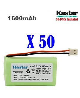 Kastar 50 PACK AAX2 2.4V Phone Battery for Vtech Bt17333 Bt27333 Cs2111 Cs5111 Cs5121 Cs5121-2 Cs5111-2 Cs5211 At&t 01839 24112 4128 El41108 El41208 Radio Shack Cs90174 12280731 23-956 23-9069