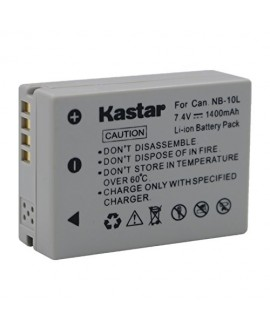 Kastar New 7.4V 1400mAh Recharger Li-ion Battery for Canon NB-10L