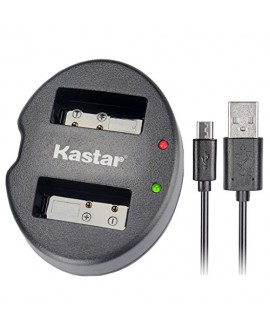 Kastar Dual USB Charger for Canon LP-E6 and EOS 5DS, 5DS R, 5D Mark II, 5D Mark III, 6D, 7D, 7D Mark II, 60D, 60Da, 70D, 80D, XC10 DSLR Camera, BG-E16, BG-E14, BG-E13, BG-E11, BG-E9, BG-E7, BG-E6 Grip