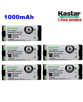 Kastar HHR-P105 Battery (5-Pack), Type 31, NI-MH Rechargeable Cordless Telephone Battery 2.4V 1000mAh, Replacement for Panasonic HHRP105 HHR-P105 HHRP105A HHR-P105A KX242 KX-242 KX2420 KX-2420 KX2421 KX-2421 KX2422 KX-2422 KXTG5779 KX-TG5779 Dantona BATT1