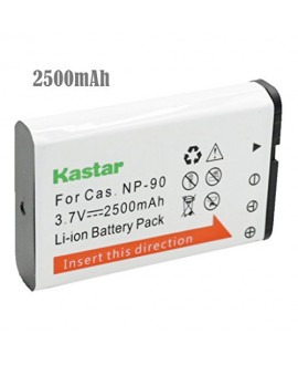 Kastar Battery (1-Pack) for Casio NP-90 work with Casio Exilim EX-H10 EX-H15 EX-H20G EX-H20GBK EX-H20GSR EX-FH100 EX-FH100BK Cameras
