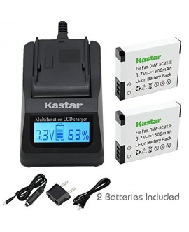 Kastar Fast Charger and Battery 2 Pack for Panasonic DMW-BCM13 DMW-BCM13PP & Lumix DMC-FT5 DMC-LZ40 DMC-TS5 DMC-TZ37 DMC-TZ40 DMC-TZ41 Lumix DMC-TZ55 DMC-TZ60 Lumix DMC-ZS27 DMC-ZS30 DMC-ZS35 DMC-ZS40