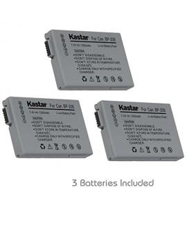 Kastar BP-208 Battery (3-Pack) for Canon DC10 DC19 DC20 DC21 DC22 DC40 DC50 DC51 DC95 DC100 DC200/201/210/211 DC220/230 Elura 100 FVM300 IXY DVS1 MVX1Si/430/450/460 Optura S1 VIXIA HR10