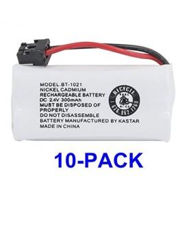 Kastar 10-PACK BBTG0798001 model BT1021 Cordless Phone Battery for Uniden BT-1021 & Uniden D1361 D1364 D1384 D1483 D1660 D1680 D1685 D1688 D1760 D1780 D1785 D1788 DECT1363 DECT 2060 DECT 2080 DECT2888