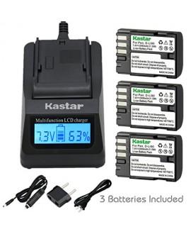 Kastar Ultra Fast Charger(3X faster) Kit and D-Li90 Battery (3-Pack) work with Pentax K-01 K-3 K-5 K-5II K-5IIs K-7 645D 645Z Cameras