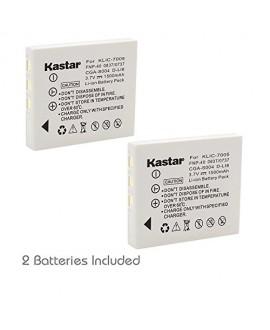Kastar Battery 2 Pack for Kodak KLIC-7005 Panasonic CGA-S004 Fujifilm NP-40 DMW-BCB7 Samsung SLB-0737 SLB-0837 Sanyo NP-40 Pentax D-Li8 Benq Dli-102 Konica Minolta NP-1 and DE-992, BC-40, SBC-L5